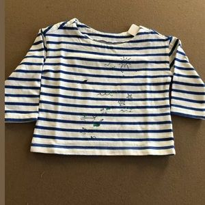 Gymboree Baby Striped Top - Shark/Ocean